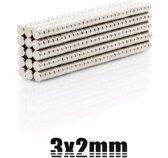 Super sterke magneten - Neodymium - Rond - 3 x 2 mm - 10 Stuks - Zilver