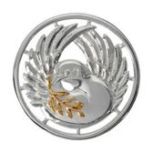 Nikki lissoni C1117SM Peaceful pigeon gold/zilver  plated M