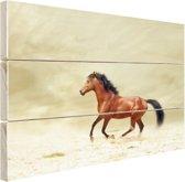 Galopperend paard Hout 30x20 cm - klein - Foto print op Hout (Wanddecoratie)
