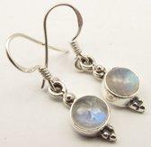 Natuursieraad -  925 sterling zilver maansteen oorhangers oorbellen - luxe edelsteen sieraad - handgemaakt