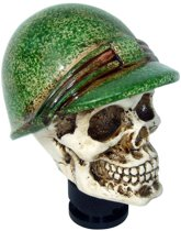 Simoni Racing Pookknop Skull + Groene Helm