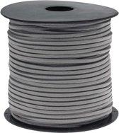 Faux Suede Veter (3 mm) Light Grey (91 Meter)