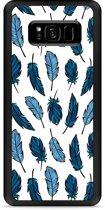 Galaxy S8 Plus Hardcase Hoesje Feathers