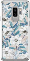 Samsung Galaxy S9 Plus siliconen hoesje - Touch of flowers