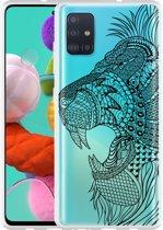 Samsung Galaxy A51 Hoesje Leeuw Mandala
