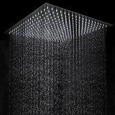 Aquamarin® - RVS Regendouche Vierkante  Douchekop 30x30 Cm. | Anti-Kalksteen | Kantelbaar | Vierkante Douche Kop | Edelstaal | Afm. 30x30 Cm.