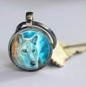 Wolf sleutelhanger speciaal voor .........