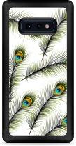 Galaxy S10e Hardcase hoesje Peacock Feathers