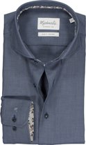 Uni Grijs/lichtblauw Birdseye shirt van Michaelis 39