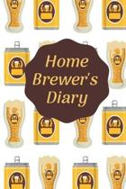 Home Brewer's Diary: Home Beer Brewing Log Book and Recipe Journal beer bottles and cans on white cover