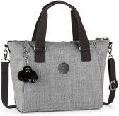 Kipling Amiel Handtas - Cotton Grey