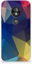 Motorola Moto E5 Play Uniek TPU Hoesje Polygon Dark