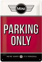 Wandbord – Mini Cooper Parking Only -20x30 cm