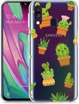 Galaxy A40 Hoesje Happy Cactus
