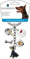 Little Gifts sleutelhanger Doberman Pinscher gekleurd