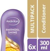 Andrelon Amandel Shine Conditioner - 6 x 300 ml - voordeelverpakkingen