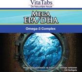VitaTabs Mega EPA-DHA - Krachtig Omega 3 Complex - 120 softgels - Visolie - Voedingssupplement