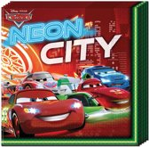 Cars Servetten Neon - 20 stuks