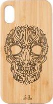 Bamboe telefoonhoesje Skull - Craft Case - Iphone X