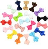 Haarspeldjes Strikjes Gekleurd- 10 stuks - Leuke Effen Designs - Haarclips Voor Meisjes - Haarspeld Meiden - Gekleurde Haarclipjes - Cadeau