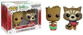 Marvel: Guardians - Christmas Groot and Rocket Racoon Mini-Wobbler Limited Edition
