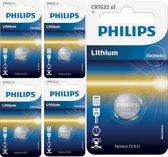 5 Stuks - Philips CR1632 3v lithium knoopcelbatterij