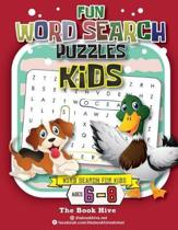 Fun Word Search Puzzles Kids: Word Search for Kids Ages 6-8