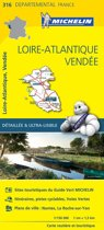Loire - atlantique / vendee 11316 carte ' local ' ( France ) michelin kaart