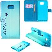 iCarer Smile print wallet case hoesje Samsung Galaxy S6