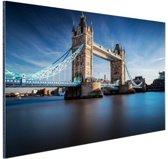 Tower bridge Thames Aluminium 30x20 cm - klein - Foto print op Aluminium (metaal wanddecoratie)
