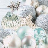Kerst servetten kerstballen thema - 20 stuks - wegwerpservetten