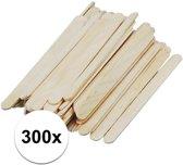 300x naturel ijsstokjes knutselhoutjes 5,5 cm - knutselstokjes