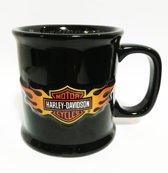 Harley-Davidson 3D Logo In Flames Beker