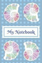 My Notebook: Notebook Journal Diary. Stylised Ammonite Pattern For Fossil Lovers. 6 x 9''