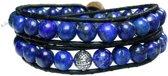 Bela Donaco Heren armband Classic - Lapis Lazuli en Sterling Zilver