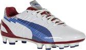 Puma EvoSPEED 3 FG  Voetbalschoenen - Maat 38.5 - Vrouwen - wit/blauw/rood