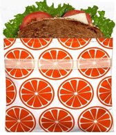 Lunchskins sandwich bag , Orange Tangerine