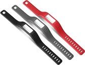 Garmin Vívofit polsbanden - Zwart, grijs en rood - Small