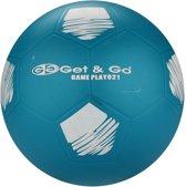 Get & Go Voetbal PVC - 21 cm - Bleu/Wit/Antraciet - 21
