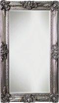 Qweens - Spiegel - Linda- zilver - buitenmaten breed 86 cm x hoog 146 cm.