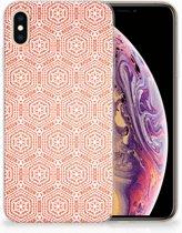 Apple iPhone Xs Max Uniek TPU Hoesje Pattern Orange