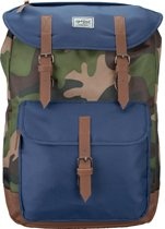 Lightpak Laptoprugzak The Passenger Camouflage / Blauw