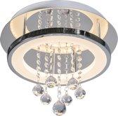 Trio Leuchten CL Tessa - Plafondlamp - 1 lichts - Ø 350 mm - chroom