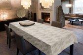 Joy@home Tafellaken - Tafelkleed - Tafelzeil - Flora Beige
