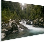 Rivier in het Nationaal park Arthur's Pass op het Zuidereiland Plexiglas 90x60 cm - Foto print op Glas (Plexiglas wanddecoratie)
