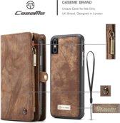 TomKas Hoesje Wallet CaseMe iPhone XR - Bruin Leder