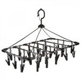 5Five - Wasrek hangend - Droogrek voor de Camping - Ondergoed Droogrek - Met 32 Hangers - Ophangbaar
