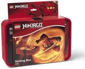 Lego Ninjago Sorteerbox - Incl. 8 Vakken - Kunststof - 17,8 x 26,7 x 6,6 cm - Rood