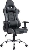 Clp MIRACLE - Racing bureaustoel - kunstleer - zwart/grijs
