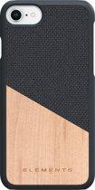 Nordic Elements Hel backcover voor Apple iPhone 6/7/8 -  Maple hout / donkergrijs textiel